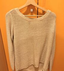 H&M DIVIDED Sweater Sivo-Krem