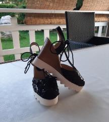 Šljokaste cipele na vezanje, veličina 37