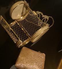 Zlatna kavez torbica
