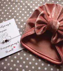 Turban - roza i narukvica po želji