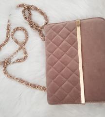 Puder roza plisana torbica