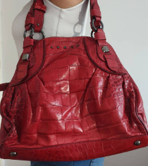 LUANA crvena kožna torba