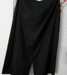 Sivo-crna štofana suknja