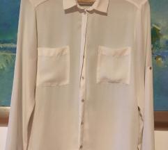 ženska košulja  bijele boje,perla dugmići