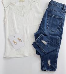 LOT - Asos mom traperice W26 L32 i bluza