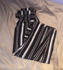 Zara prugaste culotte hlače xs s mašnom
