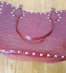 Nova Zara crvena shopper torba
