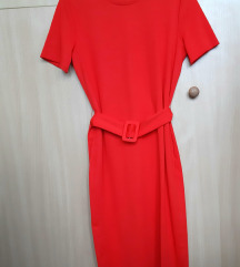 ZARA crvena haljina, L