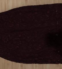 suknja od čipke s podstavom