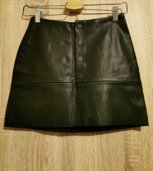 Zara kožna mini suknja