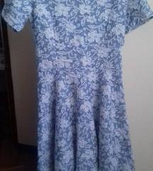 Čipkana rastezljiva haljina, S
