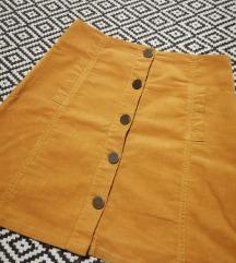 Samtana suknja ,XS-S