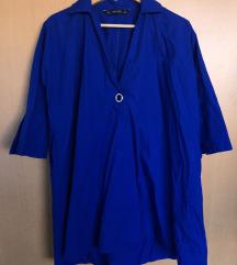 SNIŽENO! ZARA Plava široka tunika/haljina
