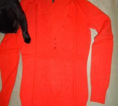Benetton vunena majica, pulover - narančasta
