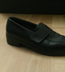 Vintage crne kožne mokasinke