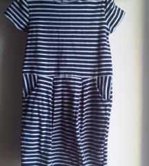 H&M haljina za cure na pruge 134/140