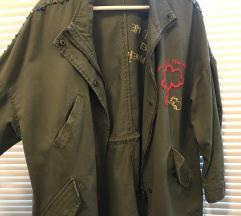 Zara zelena jaknica s printom