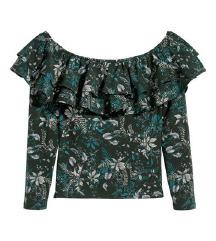 H&M off shoulder cvjetna bluza