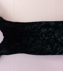 Haljina baršun zelena