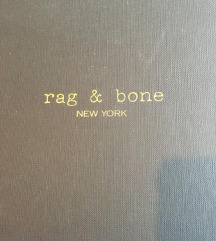 Rag and Bone srebrne metalik gleznjace