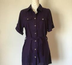 Ljubičasta lanena tunika/ košulja