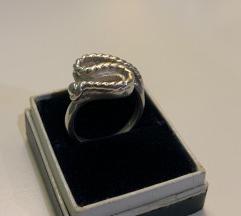 Vintage prsten zmijica srebro