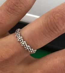 Srebrni prsten cvjetići, 925