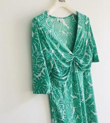 Zelena midi haljina vel S-M