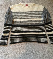 %2+1 GRATIS  Prugasti pulover vel L