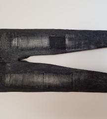 Crne tajice imitacija rifli