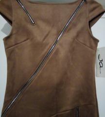 NOVA kratka haljina/kozni look