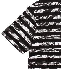 DIESEL BLACK GOLD crno bijela prugasta majica