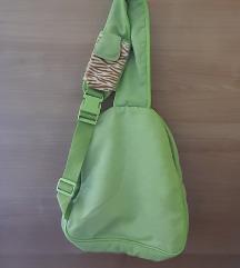 Zelena dječja torba sa tigrastim uzorkom