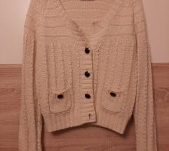 Vintage krem bijeli pulover kardigan