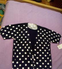 Prelijepa točkasta vintage majica kratkih rukava