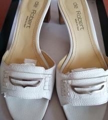 Bijele kožne de Robert sandale