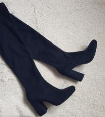 % Tamnoplave visoke čizme - Zara 💎