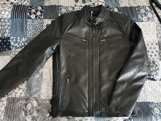 Nova AIM crna kožna jakna za muškarce L