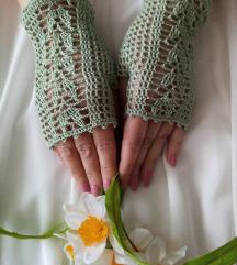Damske čipkaste heklane rukavice