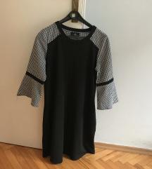 AGB crna haljina s pepita uzorkom