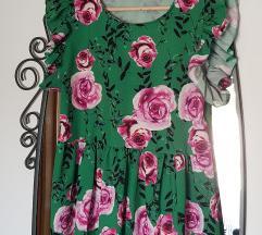 Nova peplum kroj floral bluza