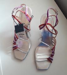 Zara kožne blue collection sandale