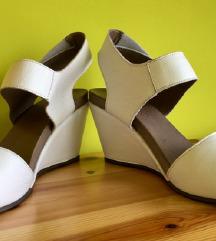 Bijele kožne wedges sandale  RASPRODAJA!