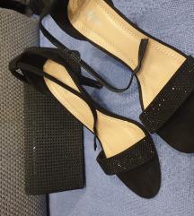 Ženske crne sandale