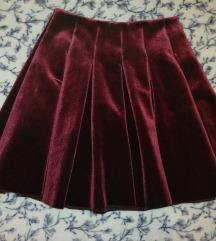 Bordo zimska suknja