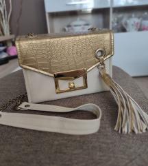 Zlatno bež torbica