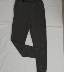 Sive hlače  visoki struk vl. 40