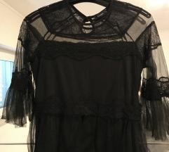 Reserved crna bluza od čipke