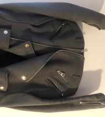 Zara siva kozna jakna