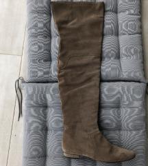 Kožne cizme preko koljena Novo